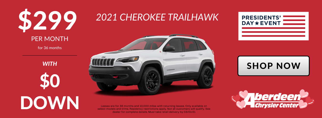 2021 Jeep Cherokee TrailHawk Lease