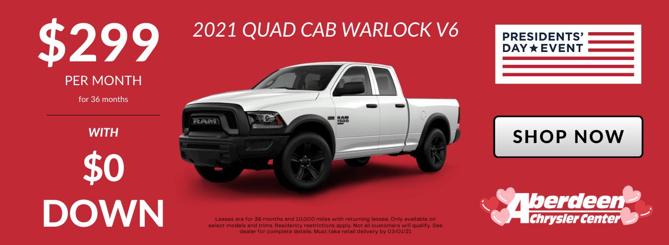 2021 RAM Warlock Lease