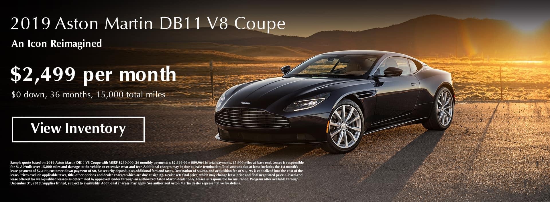 Aston Martin Houston Lease Offer