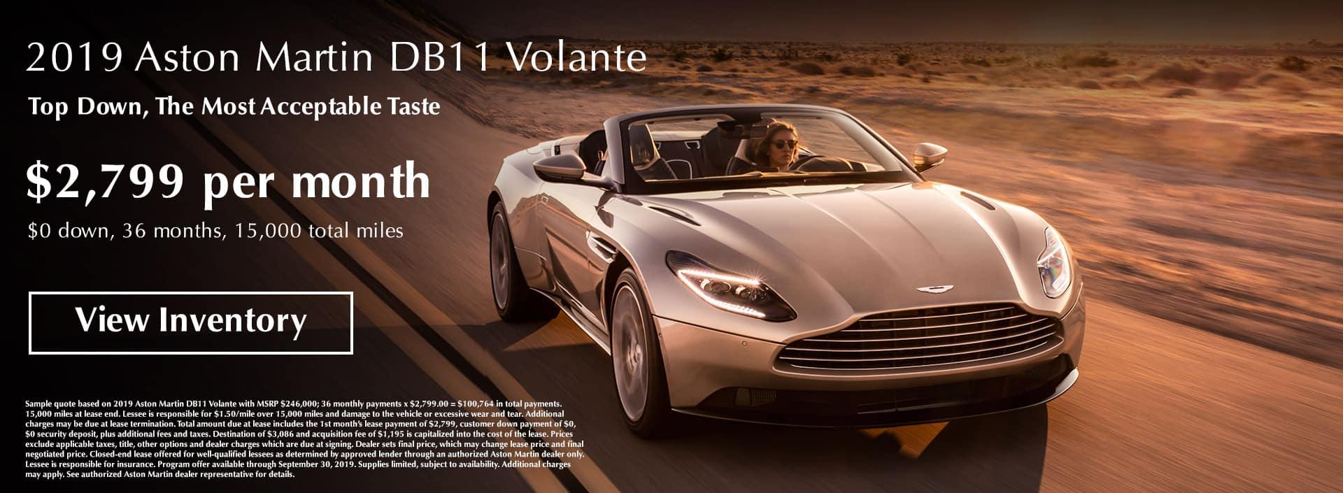 2019 Aston Martin Volante