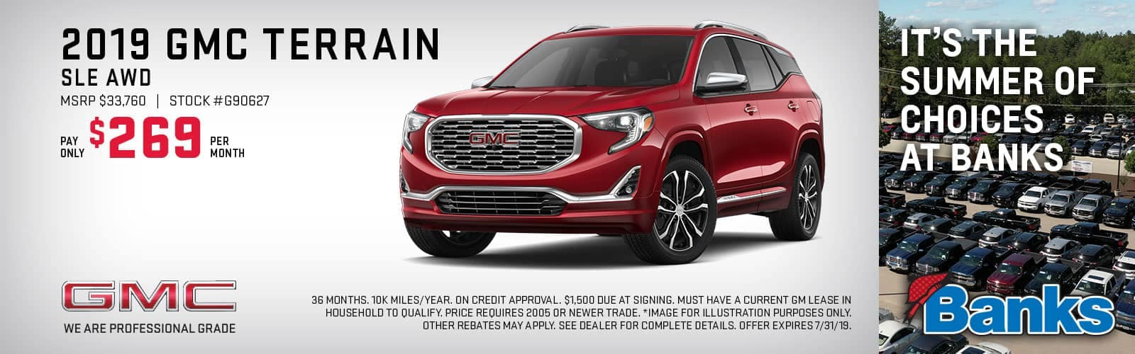 Banner of GMC Terrain for July Special