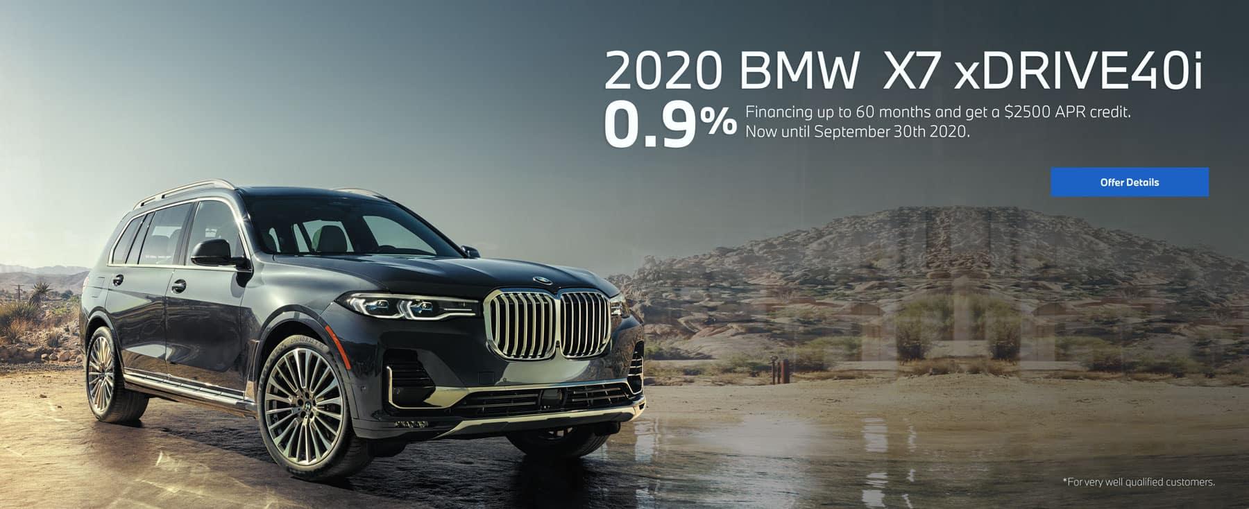 2020 BMW x7 xDrive40i 0.9%