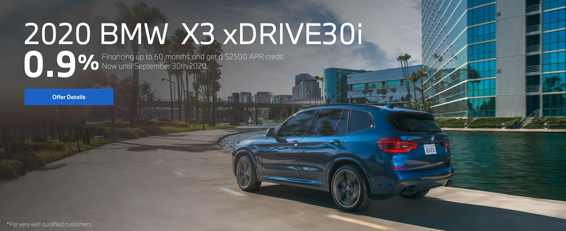 2020 BMW X3 0.9% offer
