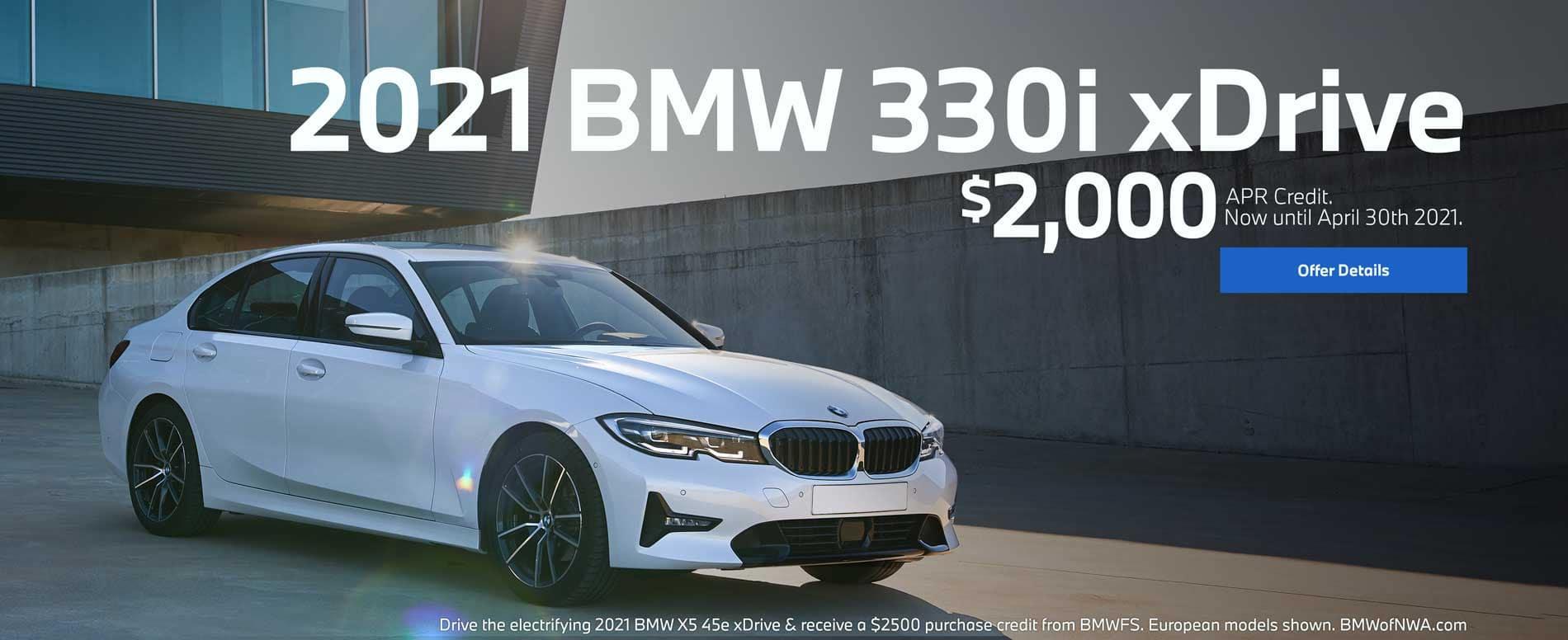 2021 BMW 330i xDrive $2000 APR Credit