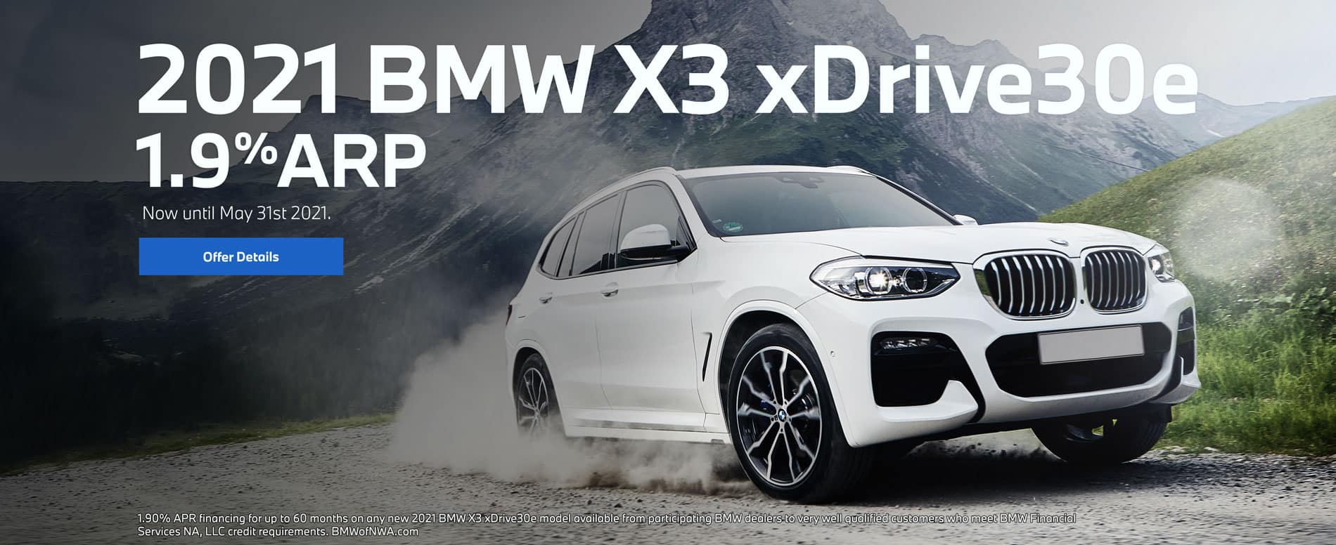 2021 bmw X3 xDrive 30e 1.9% ARP