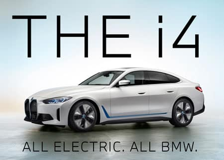 The i4, All electric. All BMW.