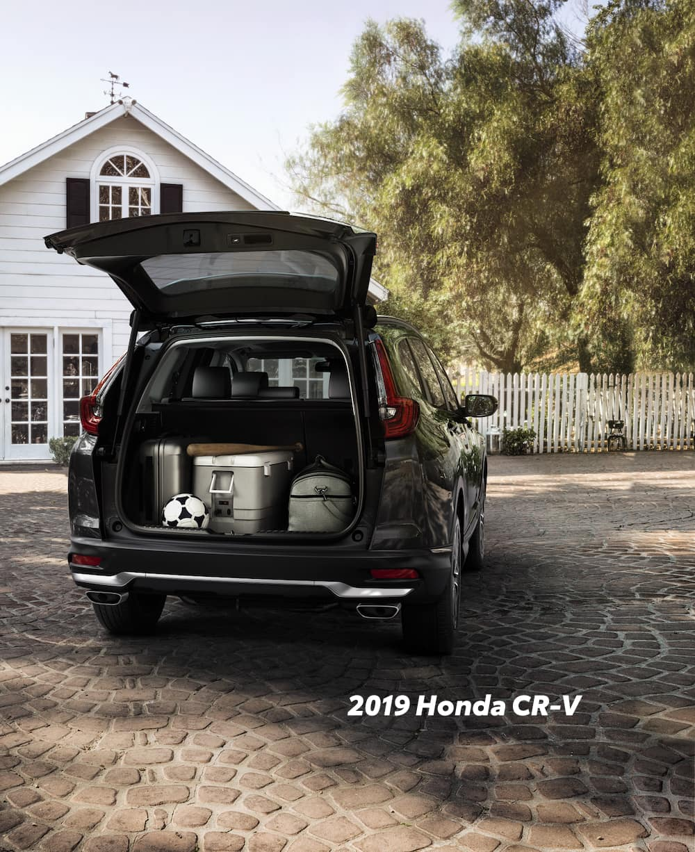 Comparison of the 2019 Pilot versus 2019 CR-V at Boch Honda of Norwood | The trunk of the 2019 Honda CR-V