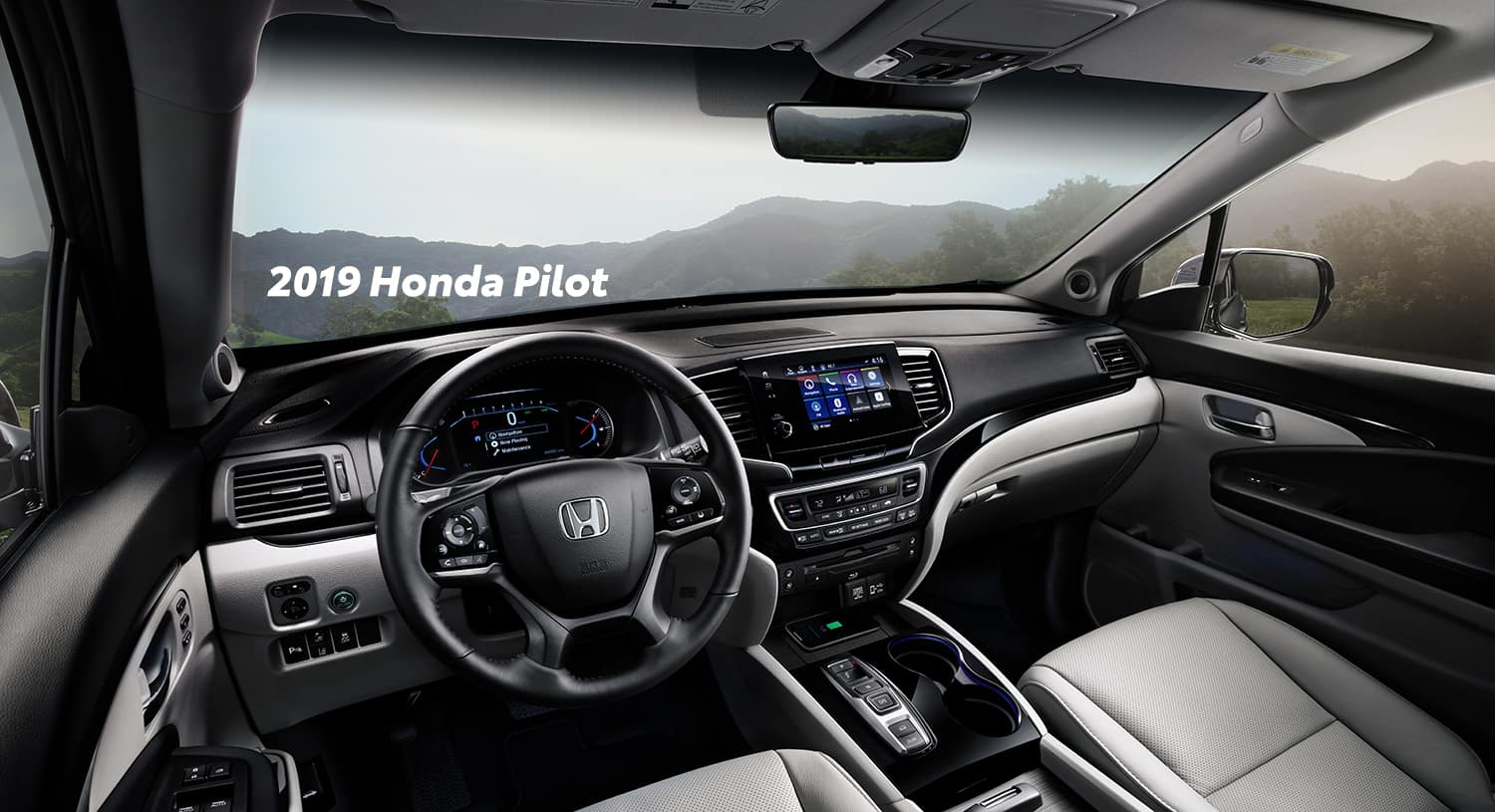Comparison of the 2019 Pilot versus 2019 CR-V at Boch Honda of Norwood | The interior of the 2019 Honda Pilot