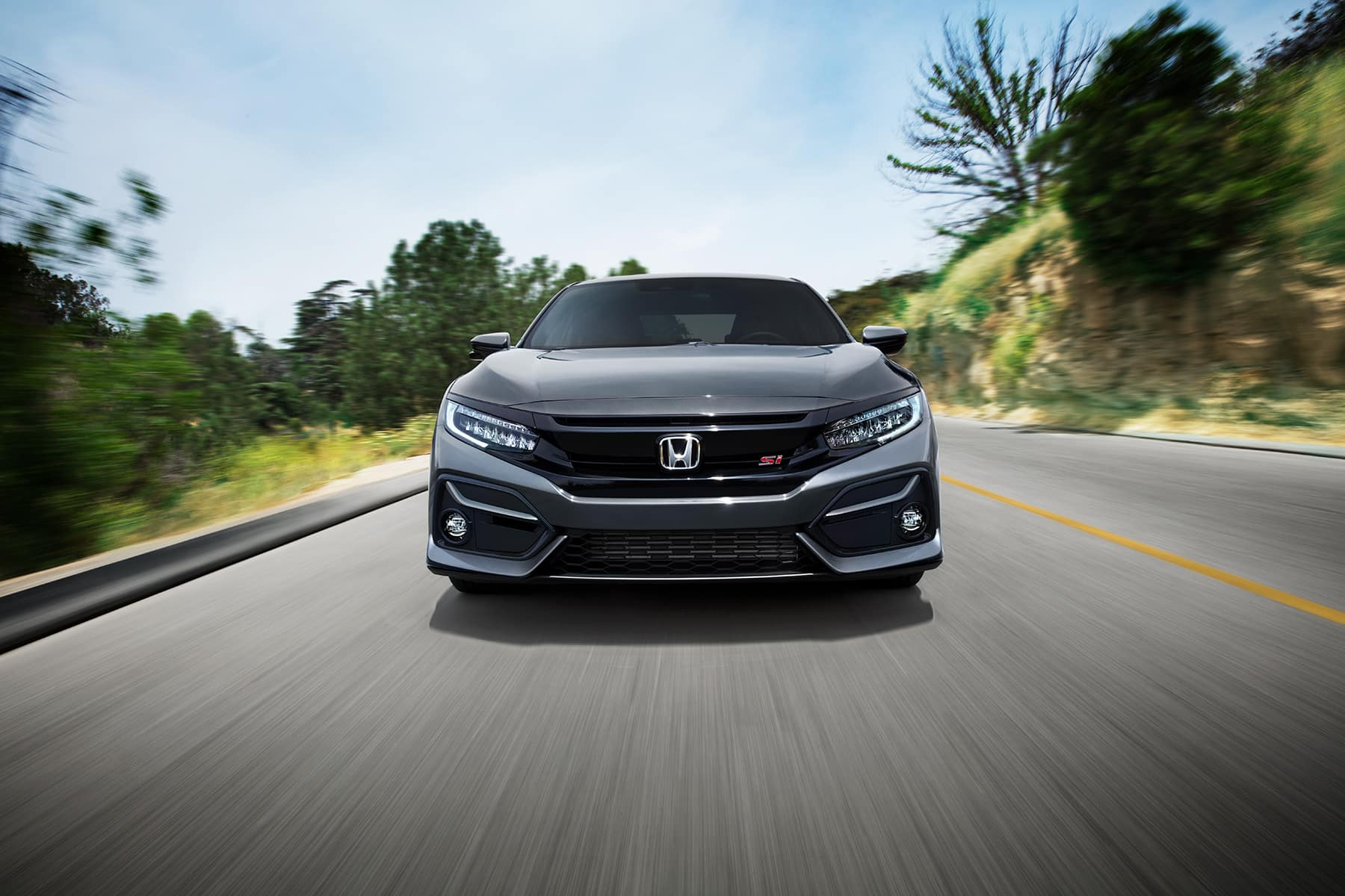 comparison-of-the-2020-Civic-and-the-2020-Accord-Massachusetts | Gray 2020 civic front view