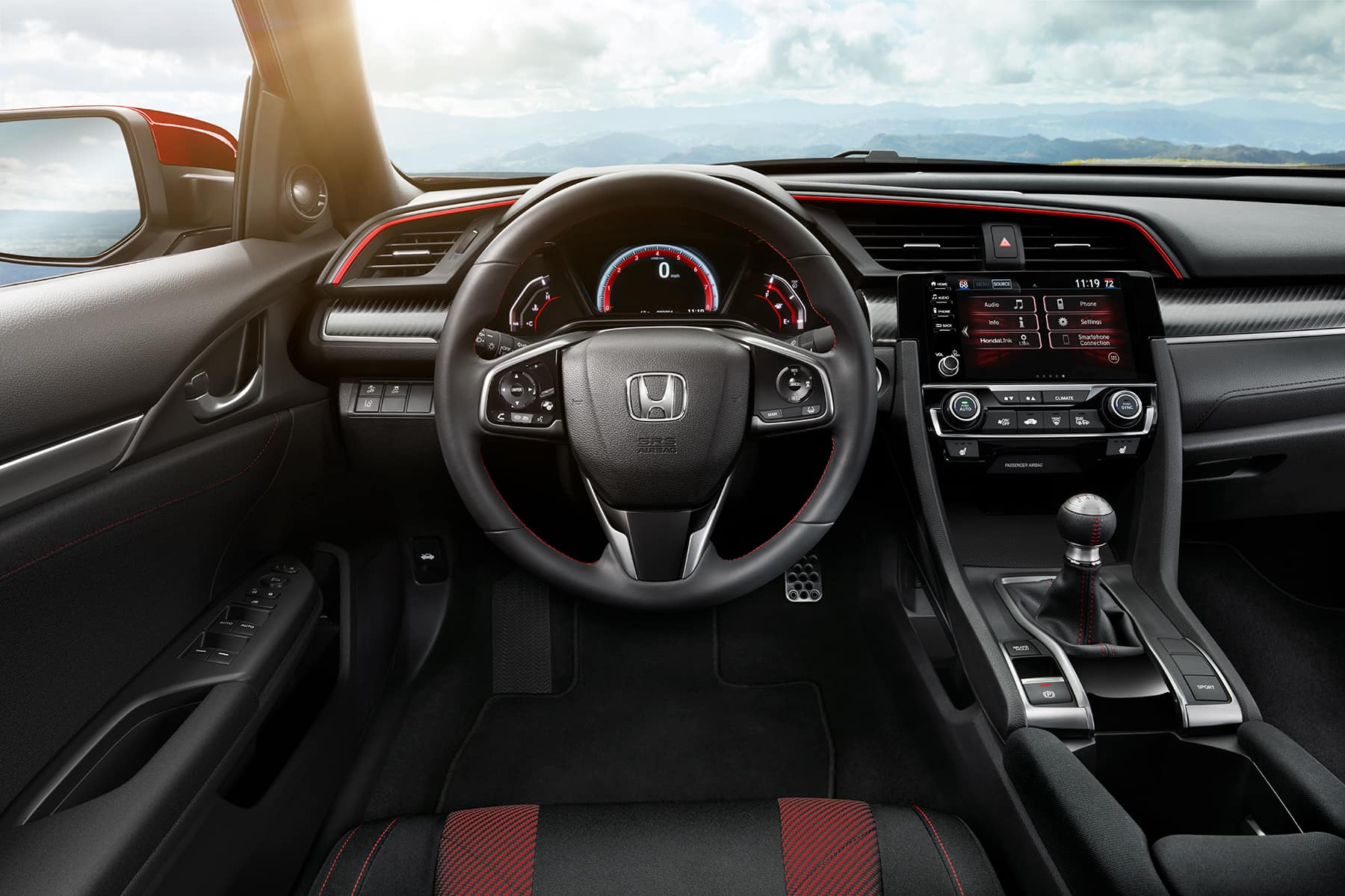 What you can get to personalize your vehicle at Boch Honda in Norwood | the dashboard of a honda