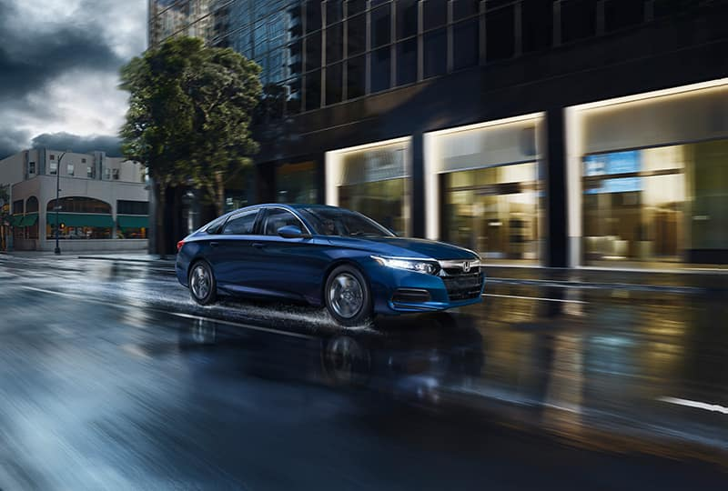 Boch Honda is a Car Dealership near Brockton MA | 2018 Honda Accord in the rain