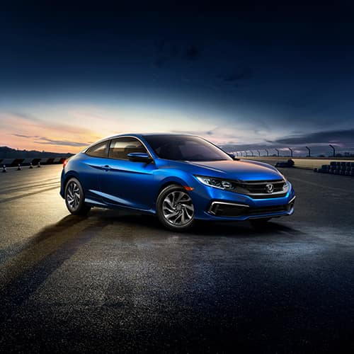 safety features of the 2019 Honda Civic Coupe at Boch Honda West in Westford