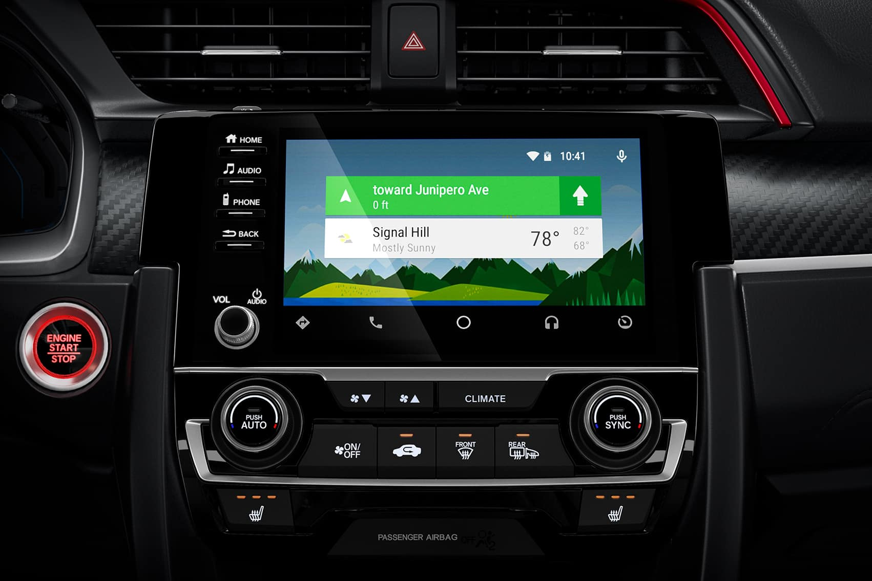 Comparison of the 2020 Civic Sedan vs. the 2020 Accord at Boch Honda West of Westford MA | the navigation system of the 2020 honda civic