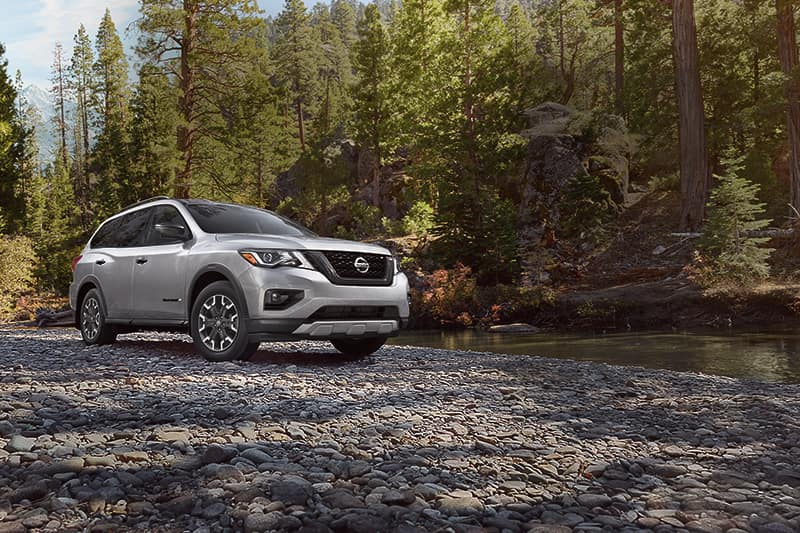 Simple checklist for buying a used car in North Attleboro at Boch Nissan South | 2019 Nissan Pathfinder parked in the wood