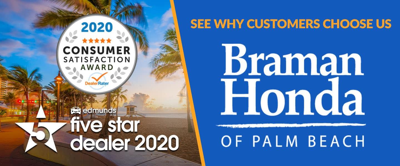 Braman Honda Awards Banner