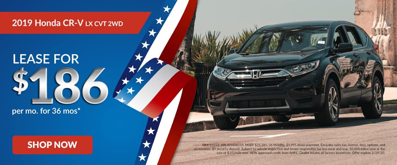2019 Honda CR-V LX 2WD Lease Offer
