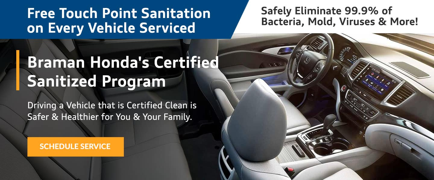 Free Touch Point Sanitation on Every Vehicle Serviced