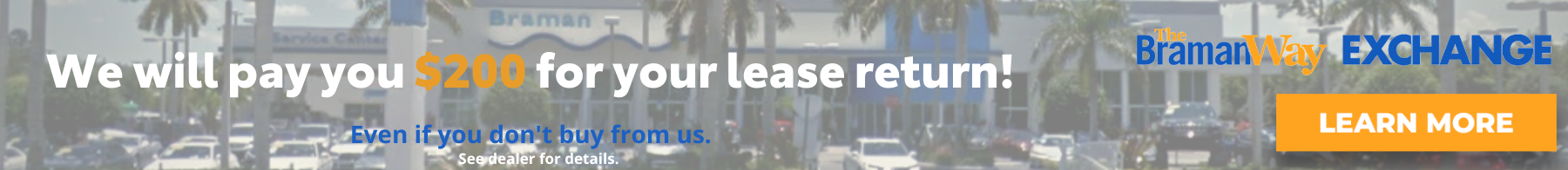 We will pay you $200 for your lease return! (1)