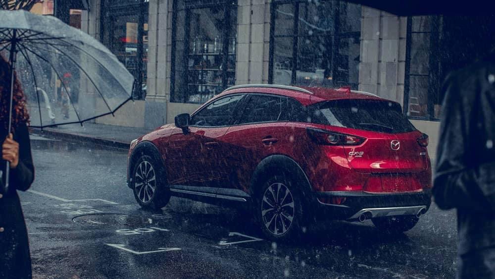 2019 Mazda CX-3 driving in the rain