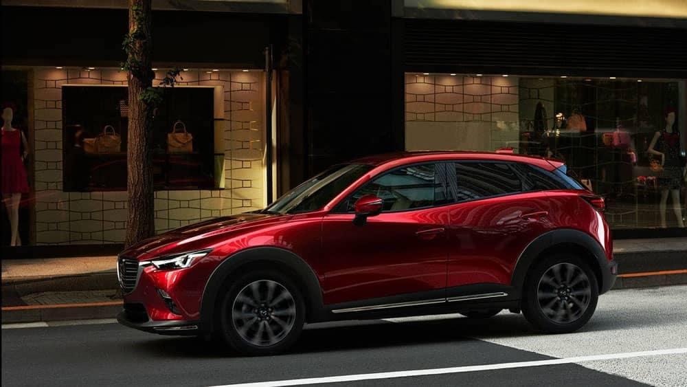 2019 Mazda CX-3 in Soul Red on City Street