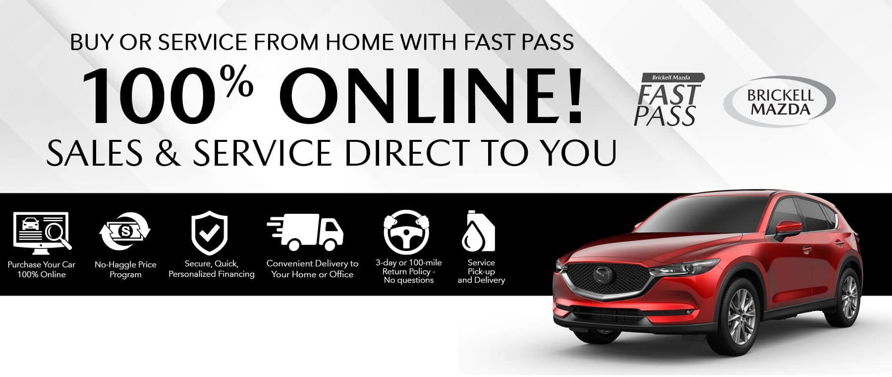 red 2021 Mazda sedan Fast Pass 100% Online Buying