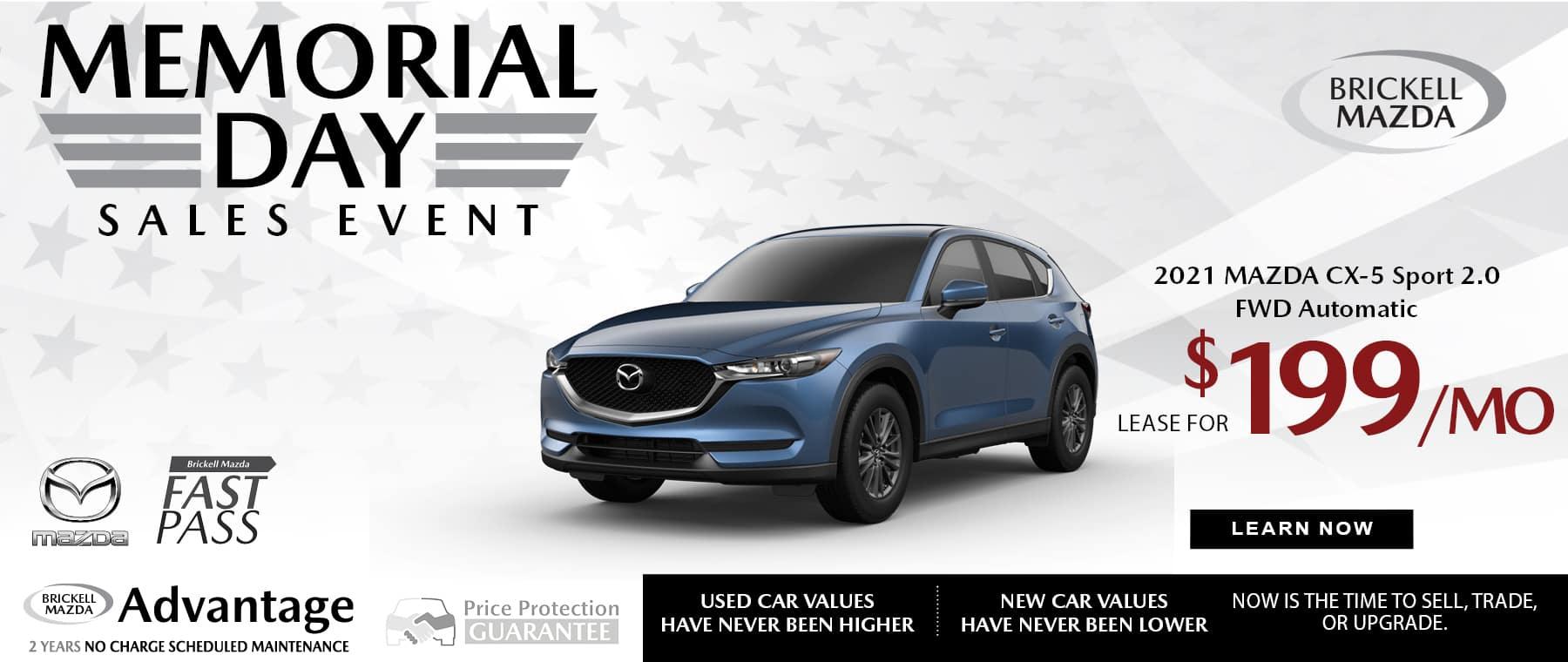 blue 2021 Mazda CX-5