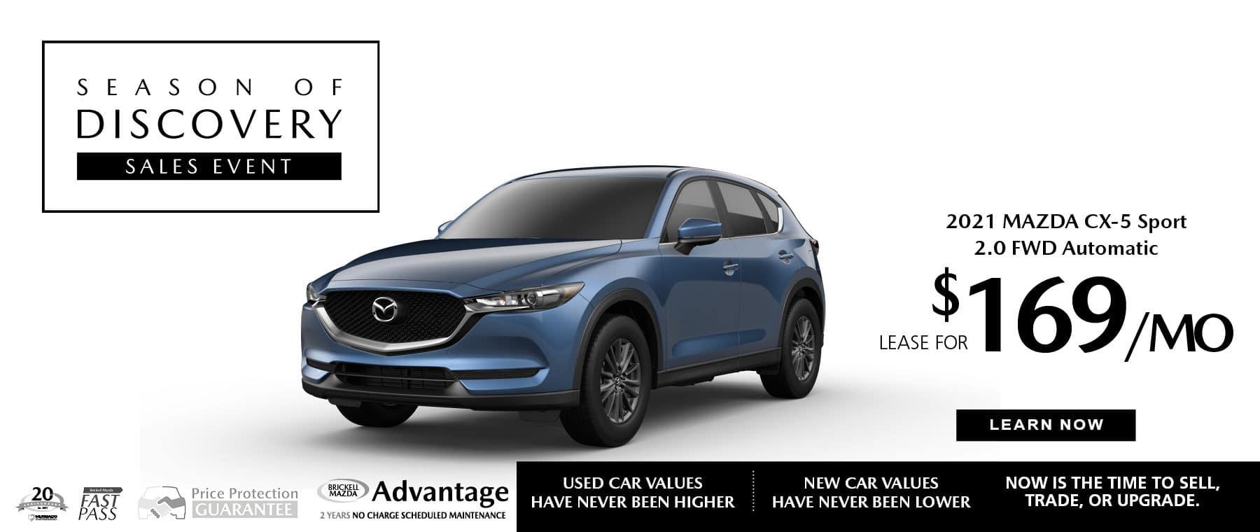 2021 Mazda CX-5 $169 a MonthBlue Vehicle