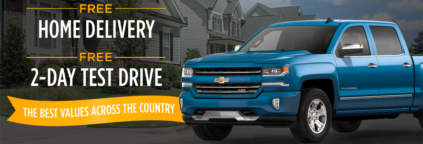 Home Delivery 2 Day Test Drive with Blue Silverado