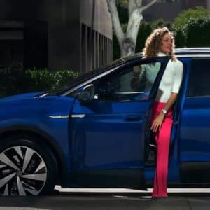 Woman Getting into VW ID.4