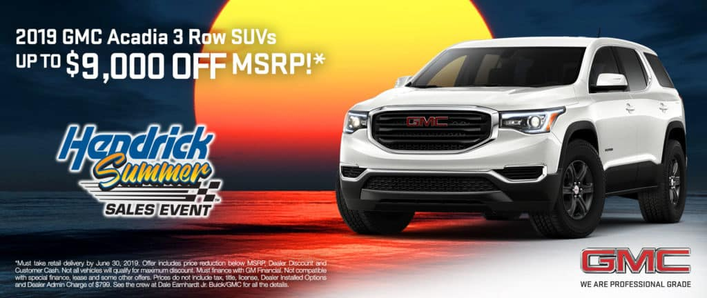 2019 GMC Acadia 3 Row SUVs