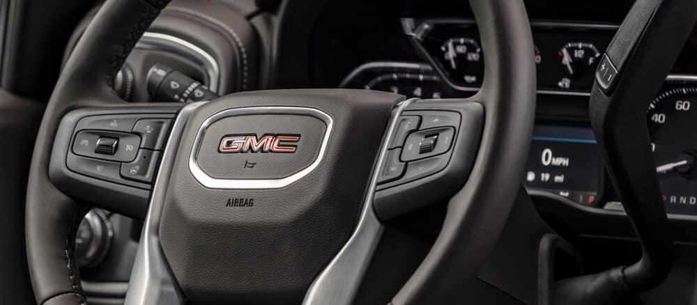 Close up of GMW Sierra steering wheel.