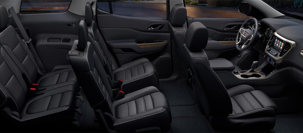 Interior of GMC Acadia