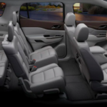 2020 gmc acadia grey interior side view