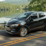2020 buick encore black exterior driving down road