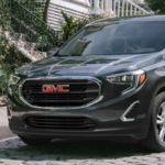 2021 gmc terrain black exterior parked outside