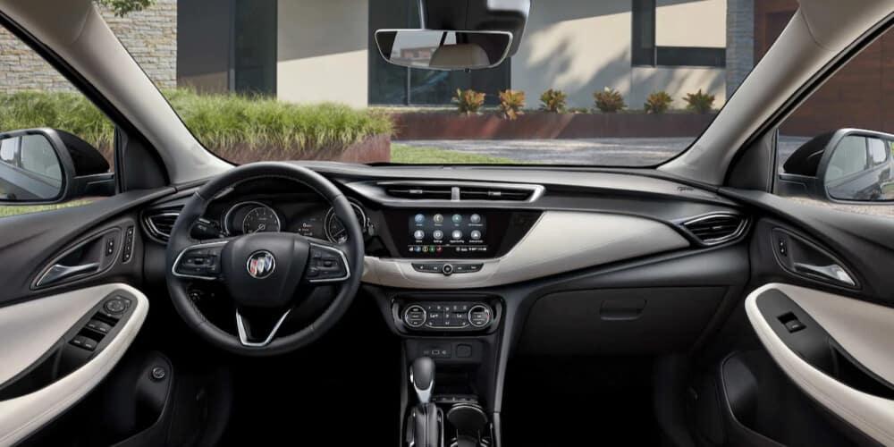 Interior shot of 2021 Buick Encore