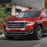 2021 gmc acadia red exterior