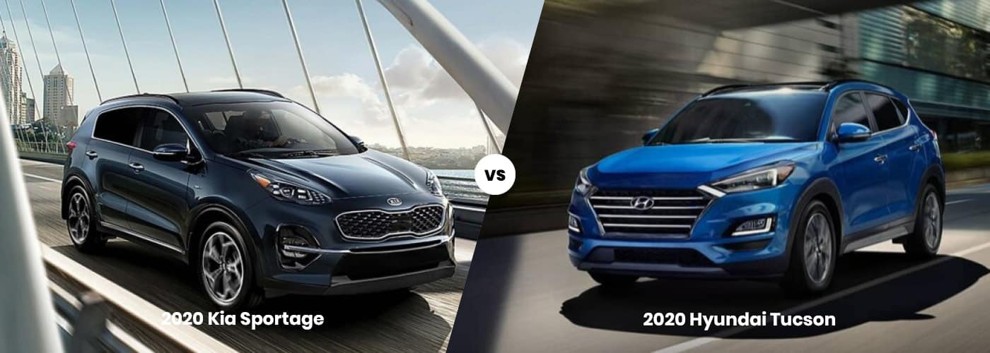 2020 Kia Sportage vs. 2020 Hyundai Tucson
