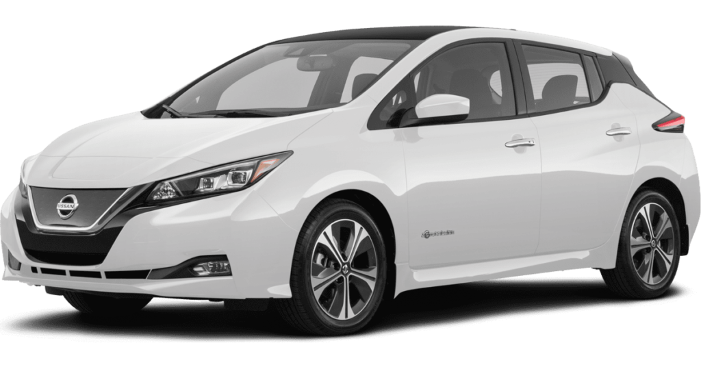2019 Nissan Leaf electric vehicle for sale at Council Bluffs Nissan dealership near Omaha