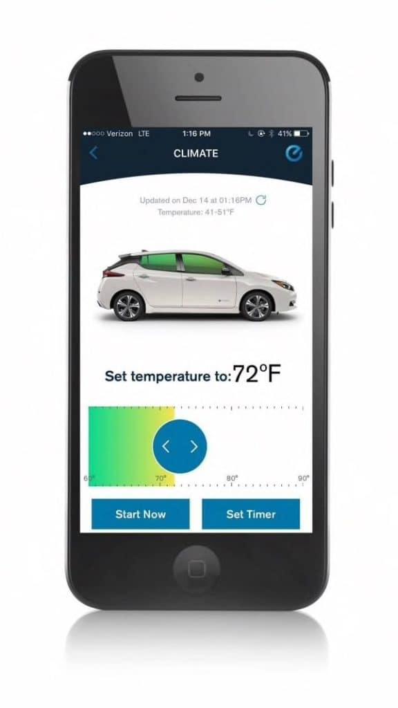 2019 Nissan Leaf Pre-Warm or Cool