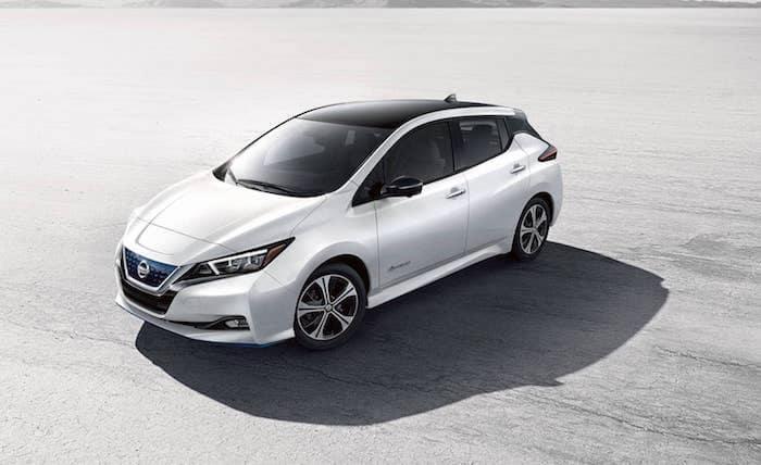 2019 Nissan Leaf electric vehicle range & charging