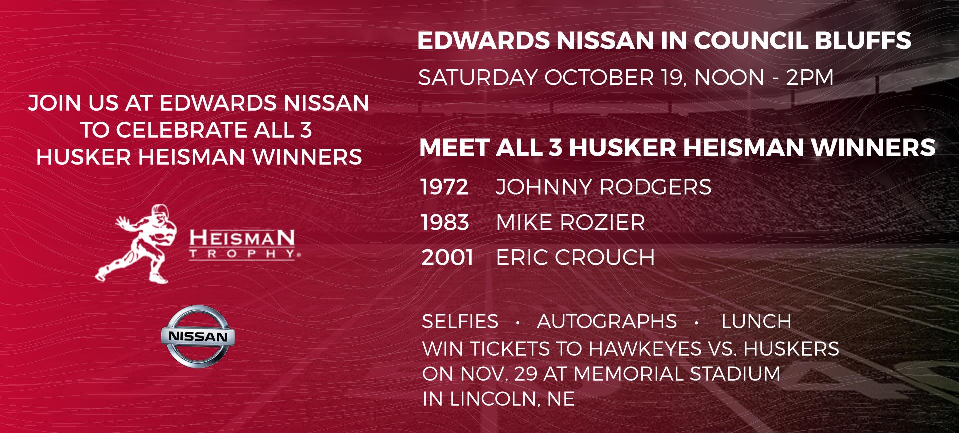 Heisman Trophy Winners Meet - Edwards Nissan