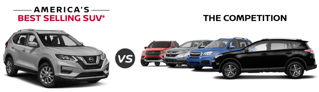 2018 Nissan Rogue vs the competition at Edwards Nissan in Council Bluffs