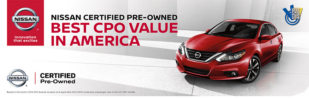 Nissan certified pre-owned program at our Council Bluffs Nissan dealership near Omaha