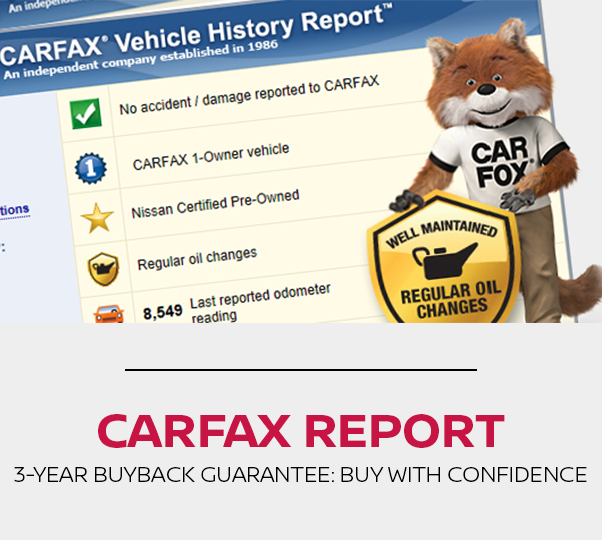 Certified Pre-Owned Carfax Vehicle History Report at Edwards Nissan in Council Bluffs