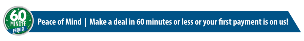 60 Minute Promise at our Council Bluffs Nissan dealership near Omaha