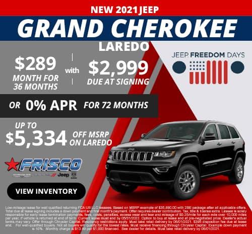 Grand Cherokee May Specials