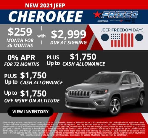 Cherokee May Special