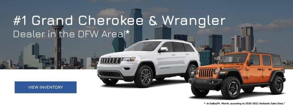 #1 Grand Cherokee & Wrangler Dealer in the DFW Area