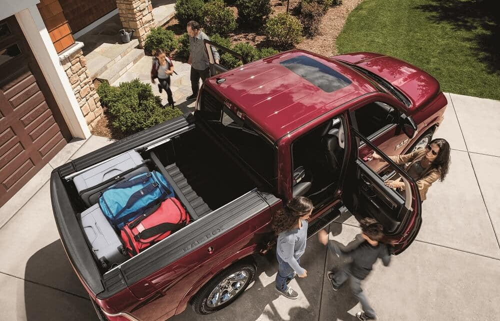 Packing into a Ram Truck